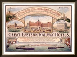 Great Eastern Railway Hotel Poster Framed Giclee Print