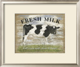 Fresh Milk Posters by Martin Wiscombe
