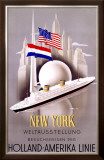 New York to Holland, America Line Framed Giclee Print by Willem Ten Broek