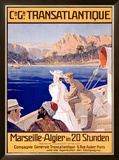 Transatlantique, Marseille Framed Giclee Print by Georges Villa