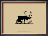 Elk Silhouette I Posters