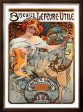 Biscuits Lefevre Utile Framed Giclee Print by Alphonse Mucha