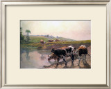 Pasture Cattle at Watering Hole Posters by Vaclav Brozik