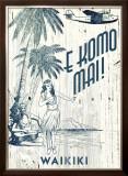 Waikiki, E Komo Mai Framed Giclee Print