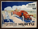 Hurtu Automobiles et Cycles Framed Giclee Print by O'Galop