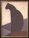 Black Cat in Profile, c.1924 Art by Marcel-Louis Baugniet