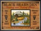 Black Bears Den Prints by Debi Hron