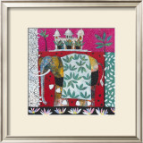 Pink Elephant with Lilies I Prints by Relton &amp; Marine 