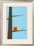 Treetop Owls I Prints by Erica J. Vess