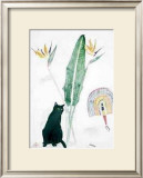 Black Cat and Strelitzia Prints by Elizabeth Blackadder