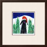 Santa Dog Limited Edition Framed Print by Ken Bailey
