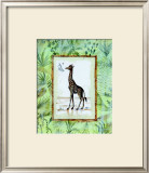 Jungle Giraffe Print by Marie Frederique