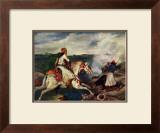 Sce`ne de la Guerre En Gre`ce Print by Eugene Delacroix