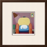 A Hardworking Cat Limited Edition Framed Print by Ken Bailey