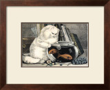 Persian Cat and Gold Fish Prints by Ebby Hoyt