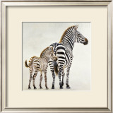 Zebre et Son Petit de Ndutu Prints by Danielle Beck