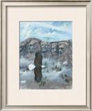 Eagle over Mount Rushmore Art