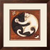 Yin Chi Yang Cats Art by Aline Gauthier