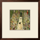 Garden Path with Chickens Framed Giclee Print by Gustav Klimt