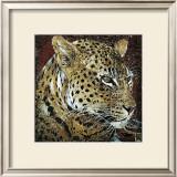 Leopard Portrait Art by Fabienne Arietti