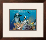 Coral Garden and Dolphin Prints by Mark Mackay