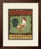 Rooster Portraits III Print by Daphne Brissonnet