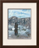 Eagle over Mount Rushmore Poster