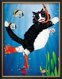 Snorkel Kitty Posters by Peter Powell