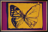 Vanishing Animals: Butterfly, c.1986 (Yellow on Purple) Prints by Andy Warhol