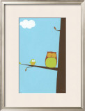Treetop Owls II Prints by Erica J. Vess