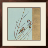 Blue Sparrow Willow I Posters by Ellen Granter