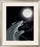 Blue Howl Limited Edition Framed Print by Rick Beaver