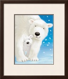 Fluffy Bears I Print by Alison Edgson