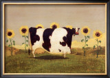 Cow With Sunflowers Posters by Thomas LaDuke