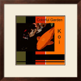 Colorful Garden Koi Framed Giclee Print by  erichan