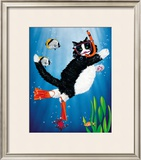 Snorkel Kitty Print by Peter Powell