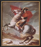 Napoleon Crossing the St. Bernard Pass, c.1801 Prints by Jacques-Louis David