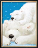 Fluffy Bears II Print by Alison Edgson