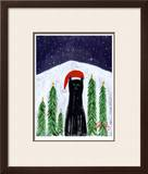 Santa Cat Limited Edition Framed Print by Ken Bailey