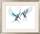Hummingbirds Limited Edition Framed Print by Richard Shorty