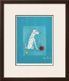 Dalmatian with Red and Yellow Ball Limited Edition Framed Print by Ken Bailey