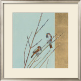 Blue Sparrow Willow I Prints by Ellen Granter