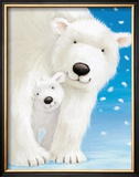 Fluffy Bears I Poster by Alison Edgson