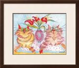 Two Companions Framed Giclee Print by Esther Szegedy