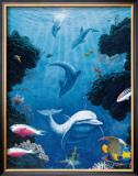 Dolphin Smiles, Maui Poster by Andrew Annenberg