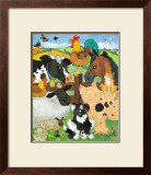 Farmyard Fun Poster by Julia Hulme