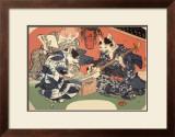 Singing Kimono Cats with Shamisen Print by Daisuke Yamashina