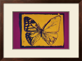 Vanishing Animals: Butterfly, c.1986 (Yellow on Purple) Posters by Andy Warhol