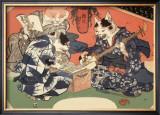 Singing Kimono Cats with Shamisen Poster by Daisuke Yamashina