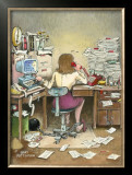 The Secretary Framed Giclee Print by Gary Patterson